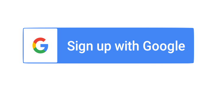 Sign up with Google